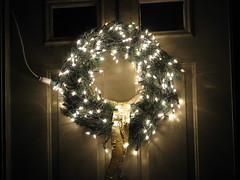 Lighted wreath