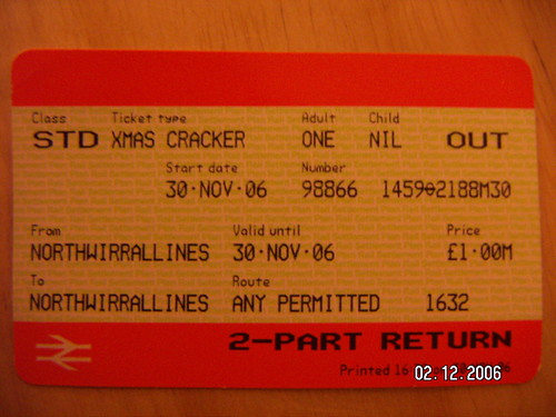 Christmas Cracker ticket