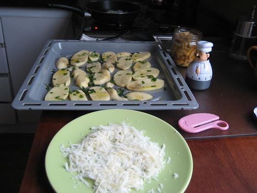 Patatas asadas con pimienta, perejil y AOVE