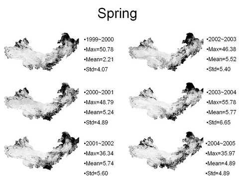 vegetation_change_detection in spring from 1999 to 2005