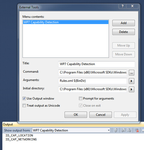 Capability Detection Tool