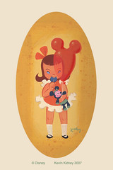Original Illustration - Girl with Souvenirs by Kevin Kidney photo by Miehana