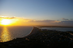 sunset over chesil beach photo by markconnell
