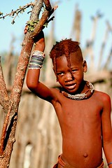 Another Himba child posing - Namibia photo by Christophe Paquignon