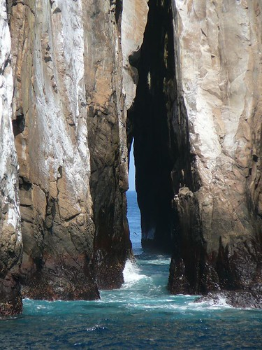 Crack in Kicker Rock