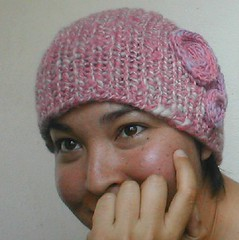 Handspun Hat on a Person