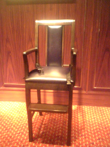 The Little Emperor's high chair