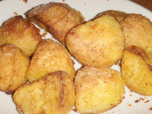 saffron roasted potatoes