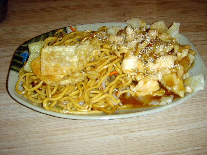 Sesame Chicken with Chow Mein