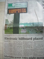 Electronic billboard placed
