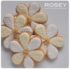 Lacy pattern flower cookies photo by rosey sugar