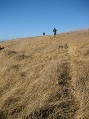 Boaters get in some hiking time, on Santa Cruz Island, Channel Islands, California