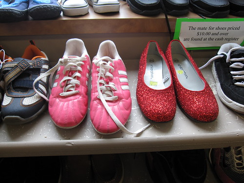 pink shoes and ruby slippers