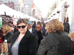 Shopping at the Downtown Holiday Market