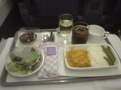 68.泰航商務艙的餐點