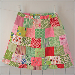 Patchwork skirt for Annie photo by Craft & Creativity