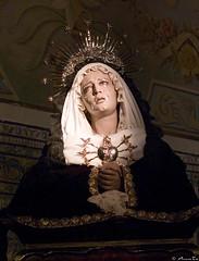 María Santísima en sus Siete Dolores. Capilla del Cristo de los Desamparados.Iglesia del Santo Angel. Sevilla photo by Jorge Sesé (ASemTa Fotografía Cofrade)