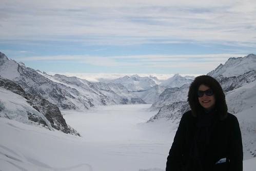 Posing with a Glacier