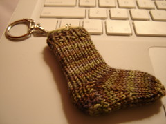 tiny sock keychain