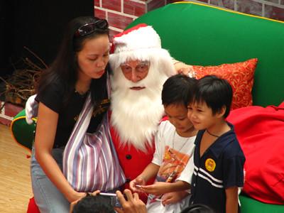 Santa and Kids