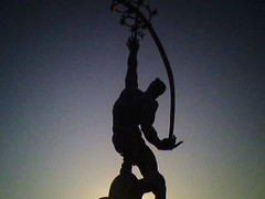 The Rocket Thrower silhouette