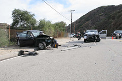 Fatal Traffic Collision in La Tuna Canyon. Click to enlarge and view more...
