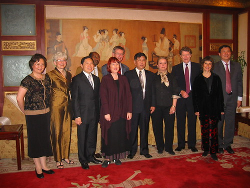 IFACCA board meets Mr Hu Zhen Min, Vice Chariman of China Federation of Literary and Art Circles, in Beijing, October 2006