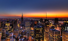 NYC New York City Skyline Sunset Wallpaper, Background photo by Kaldoon