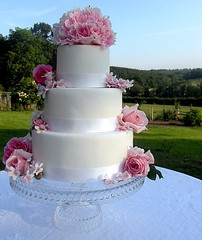 Romantic Garden Wedding Cake photo by purecakes (lizzie)