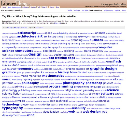 LibraryThing Tag Mirror / 2007-08-26T09:04-05:00 / SML Screenshot (by See-ming Lee 李思明 SML)
