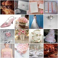 White, Pink & Silver Wedding Inspiration Mosaic photo by PrincesseJen