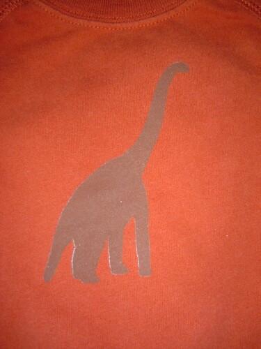 stenciled t-shirt close up
