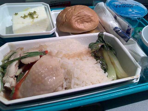 Hainanese Chicken Rice on SilkAir