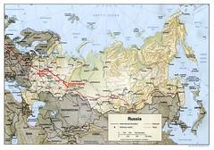 kaart Rusland-trip
