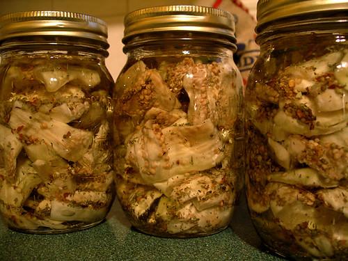 eggplant in jars