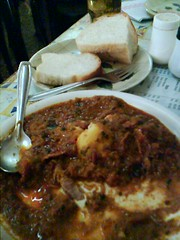 chicken masal fry and pav (bread) (by kapsi)