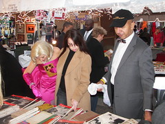 Mayor Williams, Marilyn Monroe and a downtown office worker shopping for vintage magazines