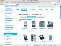 Download Skype 2.2 Beta for Windows Mobile - choose model.png