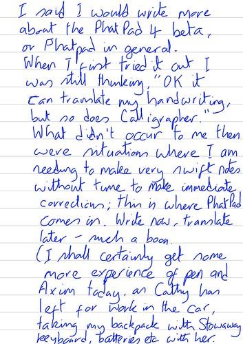 PhatPad musings