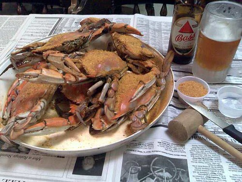 A half dozen crabs