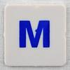 hangman tile blue letter M