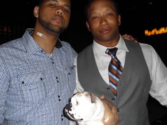 Frank with Steve Smith and Jamal Anderson