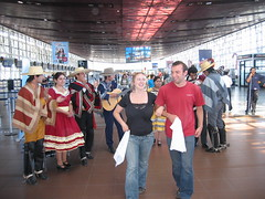 Cueca in the airport