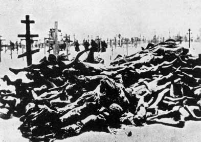 Bodies of victims of Holodomor