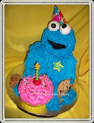 Cookie Monster Cake photo by A Sweet Life Cakery