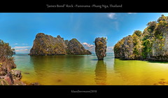 James Bond Rock - Panorama - Phang Nga, Thailand (HDR) photo by farbspiel