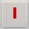 hangman tile red letter I
