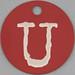 pink tag letter U