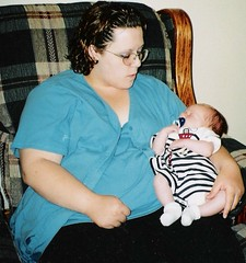 Just after baby #2, '99...
