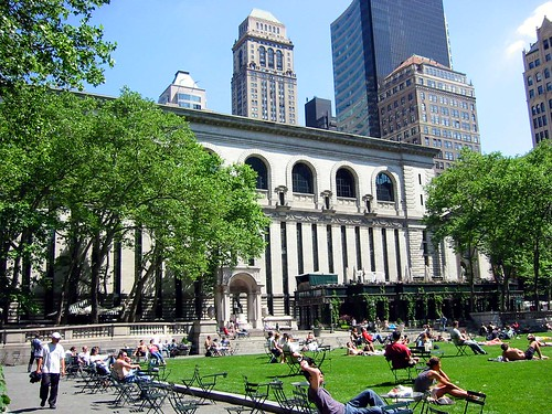 Bryant Park in the summer